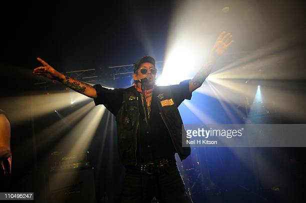 Mark Manning of Zodiac Mindwarp performs on stage at O2 Academy on March 20, 2011 in Sheffield, United Kingdom.