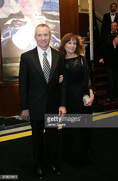 Mark Martin and his date arrive for the 2004 NASCAR Nextel Cup Awards at the Waldorf Astoria on December 3 2004 in New York City