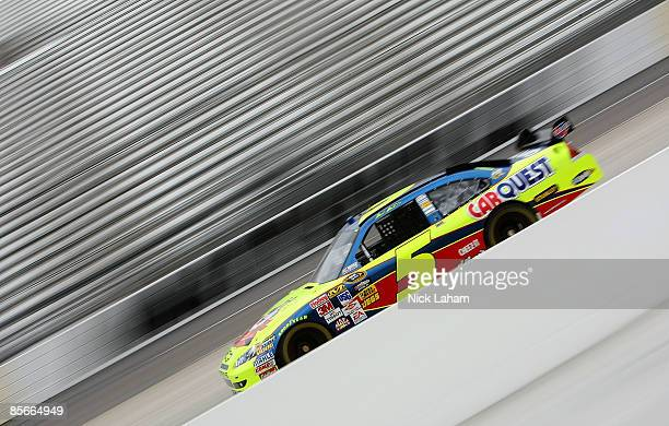 Mark Martin driver of the CARQUEST/Kellogg's Chevrolet drives during practice for the NASCAR Sprint Cup Series Goody�s Fast Pain Relief 500 at the...