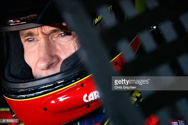 Mark Martin driver of the Kellogg's/CARQUEST Chevrolet prepares to drive during practice for the NASCAR Sprint Cup Series Pepsi 500 at Auto Club...
