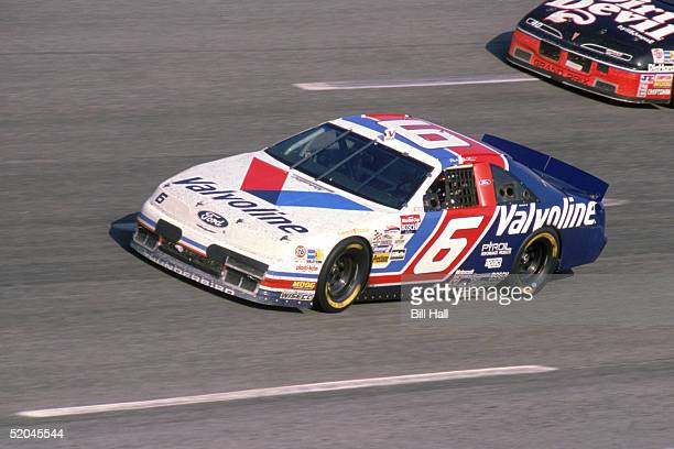 Mark Martin driver of the Roush Racing Valvoline Team competes in the 1993 Coca Cola 600 at Charlotte Motor Speedway in Charlotte North Carolina