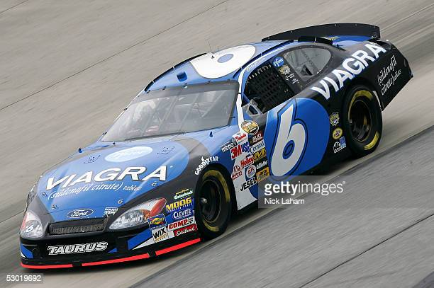 Mark Martin driver of the Viagra Ford drives during the NASCAR Nextel Cup MBNA RacePoints 400 practice on June 4 2005 at Dover International Speedway...