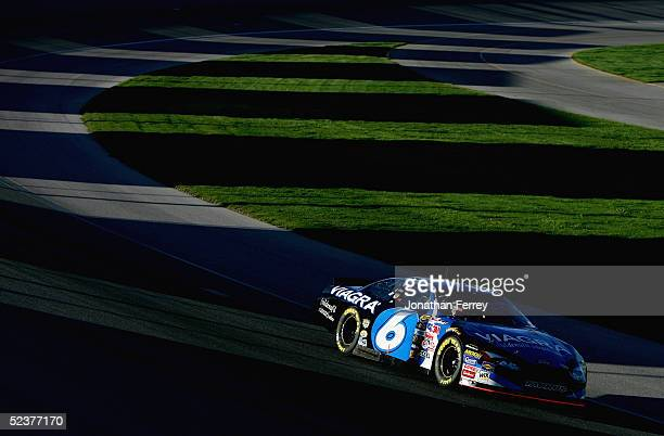 Mark Martin drives his Viagra Ford during qualifying for the NASCAR Nextel Cup UAWDaimlerChrysler 400 on March 11 2005 at Las Vegas Motor Speedway in...