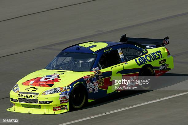 Mark Martin drives the Kellogg's/CARQUEST Chevrolet during practice for the NASCAR Sprint Cup Series Pepsi 500 at Auto Club Speedway on October 9...