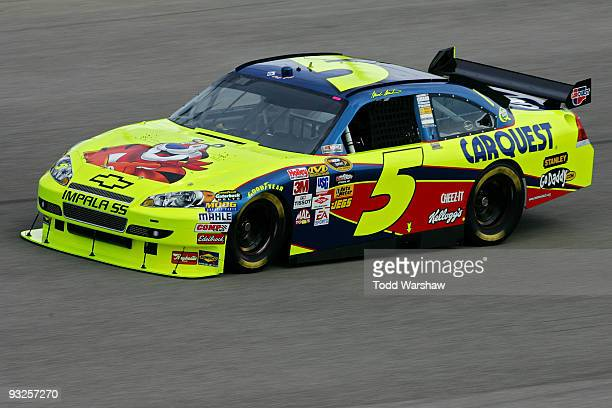 Mark Martin drives the Kellogg's/CARQUEST Chevrolet during practice for the NASCAR Sprint Cup Series Ford 400 at HomesteadMiami Speedway on November...