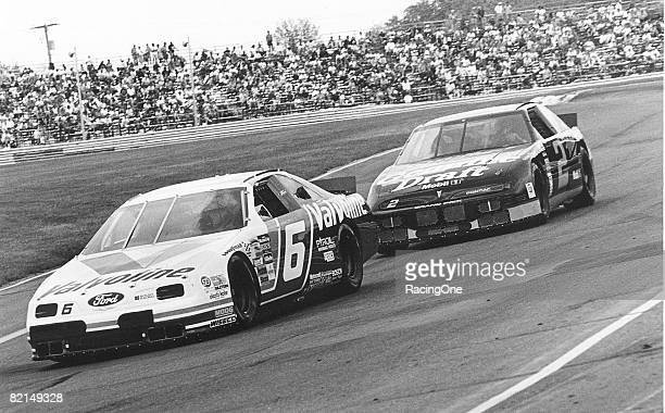 Mark Martin leads Rusty Wallace during Budweiser at The Glen 1993 Martin won despite having problems in the pits