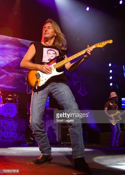 Mark Matejka of Lynyrd Skynyrd performs at the Verizon Wireless Music Center on June 27 2010 in Noblesville Indiana