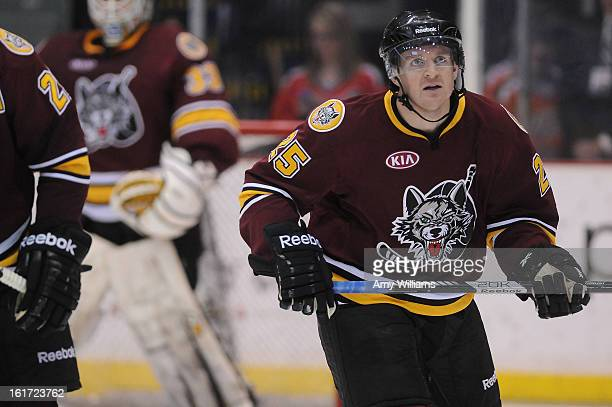 Mark Matheson of the Chicago Wolves skates on the ice at Abbotsford Entertainment and Sports Centre on January 11 2013 in Abbotsford Canada