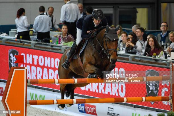 Mark Mcauley of Ireland riding Jasco Vd Bisschop during the Longines FEI Jumping World Cup Verona 2018 CSI5*W on October 28 2018 in Verona Italy