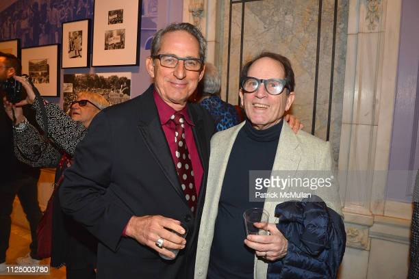 Mark McDonald and Peter Schlesinger attend Love Resistance Stonewall 50 at New York Public Library on February 14 2019 in New York City