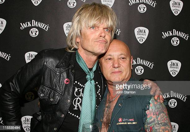 Mark McEntee and Angry Anderson during The Jack Awards 2007 Backstage and Press Room at Luna Park in Sydney NSW Australia