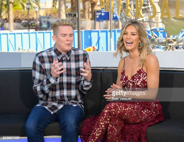 Mark McGrath and Charissa Thompson visit Extra at Universal Studios Hollywood on March 15 2017 in Universal City California
