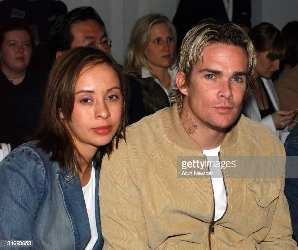 Mark McGrath and guest during MercedesBenz Shows LA Shawn Front Row at The Standard Downtown LA in Los Angeles California United States