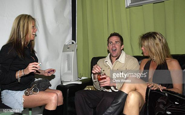 Mark McGrath and Rachel Hunter with guest during EMI 2004 GRAMMY Party at Los Angeles County Museum of Art in Los Angeles California United States