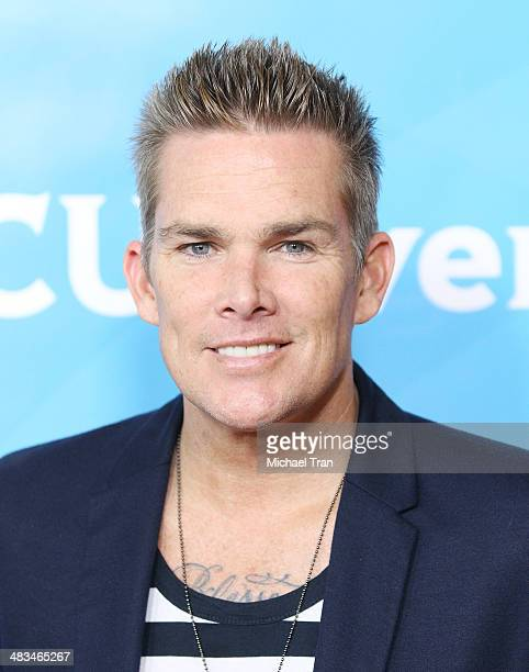 Mark McGrath arrives at the NBCUniversal's 2014 Summer Press Day held at Langham Hotel on April 8, 2014 in Pasadena, California.