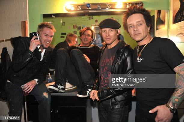 Mark McGrath Donovan Leitch Chris Chaney and Billy Morrison attendCamp Freddy and Friends Presented by Onitsuka Tiger at The Roxy Theatre on December...