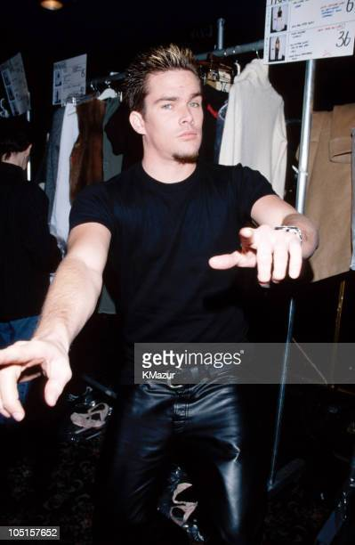 Mark McGrath during Tommy Hilfiger Fall 1999 Fashion Show Front Row and Backstage at Roseland in New York City New York United States