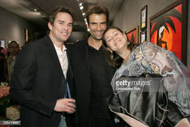 Mark McGrath, Jerry Penacoli and Camryn Manheim during Jerry Penacoli's Debut Art Opening at Decor Art Galleries in Studio City, California, United...
