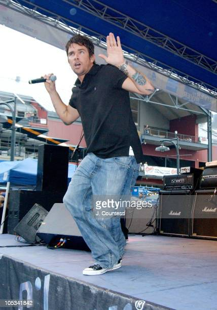 Mark McGrath of Sugar Ray during Sugar Ray Performs as SONG Salutes 50 Years of Rock 'N Roll at South Street Seaport in New York City New York United...