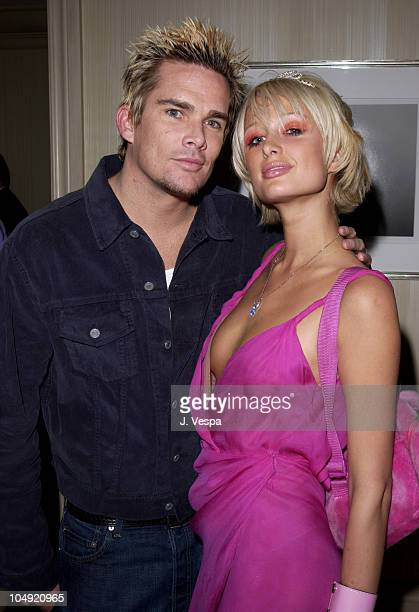 Mark McGrath & Paris Hilton during Maxim Lounge Opening in conjunction with the Lewis - Rahman Fight & Britney Spears Concert at Palazzo Suites at...