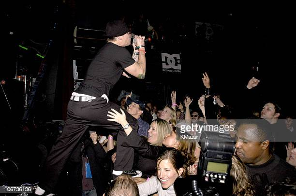Mark McGrath performs with Camp Freddy during 2004 Park City Blender Sessions Closing Night Performance at Harry O's in Park City Utah United States