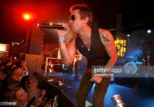 Mark McGrath performs with Camp Freddy during Best Buy Celebrates the Launch of the New Playstation 3 Inside at Best Buy in West Hollywood California...