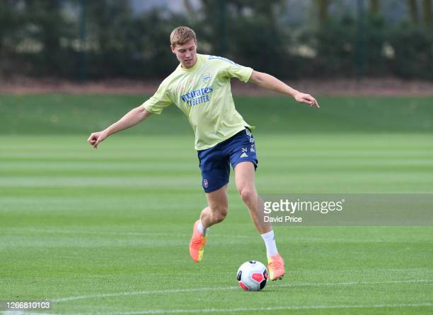 Mark McGuinness of Arsenal during the Arsenal U23 training session at London Colney on August 17, 2020 in St Albans, England.
