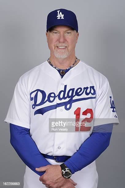 Mark McGwire of the Los Angeles Dodgers poses during Photo Day on February 17 2013 at Camelback Ranch in Glendale Arizona