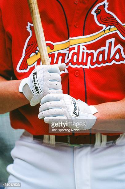 Mark McGwire of the St Louis Cardinals during the game against the Colorado Rockies on May 28 1998 at Busch Stadium in St Louis Missouri