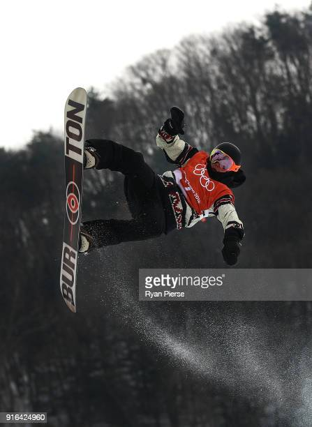 Mark McMorris of Canada competes during the Men's Slopestyle qualification on day one of the PyeongChang 2018 Winter Olympic Games at Phoenix Snow...