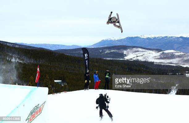 Mark McMorris of Canada competes in the men's snowboard Slopestyle Final during Day 4 of the Dew Tour on December 16 2017 in Breckenridge Colorado