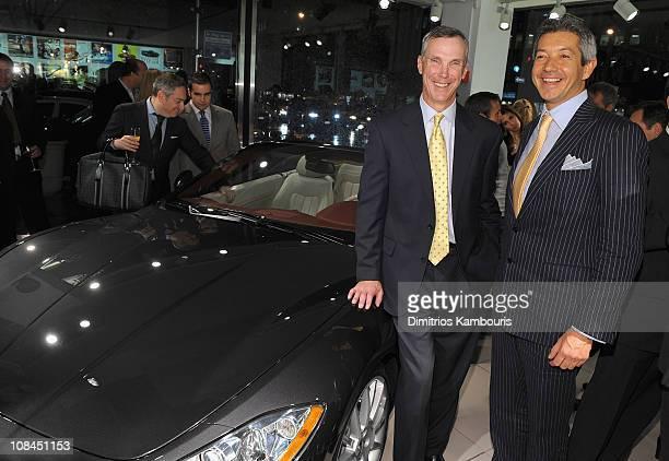 Mark McNabb President CEO of Maserati North America and Andrea Soriani of Maserati attend the US Debut of the Maserati GranTurismo Convertible at...