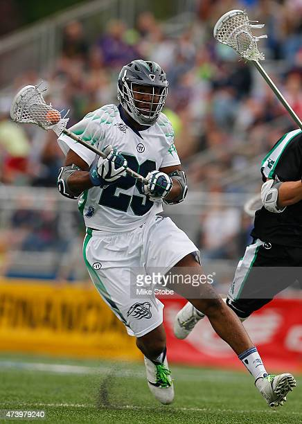 Mark McNeill of the Chesapeake Bayhawks in action against the New York Lizards at James M Shuart Stadium on May 16 2015 in Hempstead New York New...