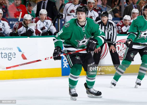 Mark McNeill of the Dallas Stars skates against the Colorado Avalanche at the American Airlines Center on April 8 2017 in Dallas Texas