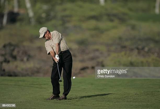 Mark McNulty hits an approach on during the Thursday ProAm at the 2006 Mastercard Championship at Hualalai resort Kona Hawaii