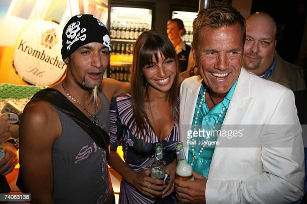 Mark Medlock, Bohlens girlfriend Carina and Dieter Bohlen attend the after show party of singer qualifying contest DSDS Final show on May 05, 2007 at...
