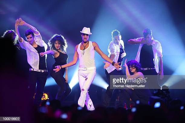 Mark Medlock performs at 'The Dome 54' at the Hanns-Martin Schleyer Halle on May 20, 2010 in Stuttgart, Germany. On May 20, 2010 in Stuttgart,...