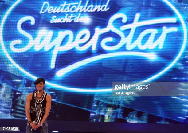 Mark Medlock performs during rehearsals for the singer qualifying contest DSDS Final show on May 05 2007 at the Coloneum in Cologne Germany