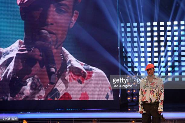 Mark Medlock performs during rehearsals for the singer qualifying contest DSDS Final show on May 05, 2007 at the Coloneum in Cologne, Germany.