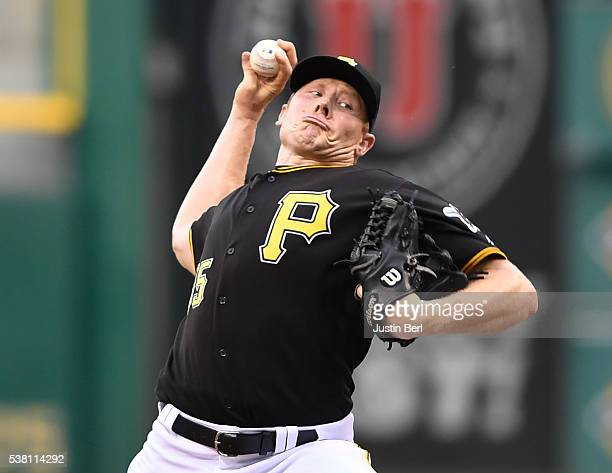 Mark Melancon of the Pittsburgh Pirates delivers a pitch in the ninth inning during the game against the Los Angeles Angels of Anaheim at PNC Park on...