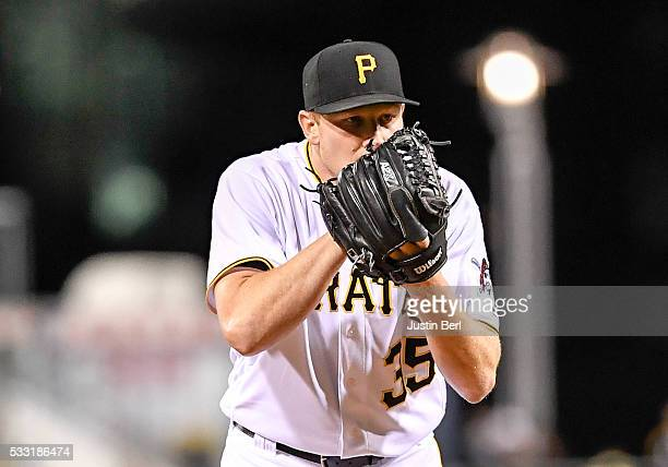 Mark Melancon of the Pittsburgh Pirates in action during the game against the Atlanta Braves at PNC Park on May 16 2016 in Pittsburgh Pennsylvania