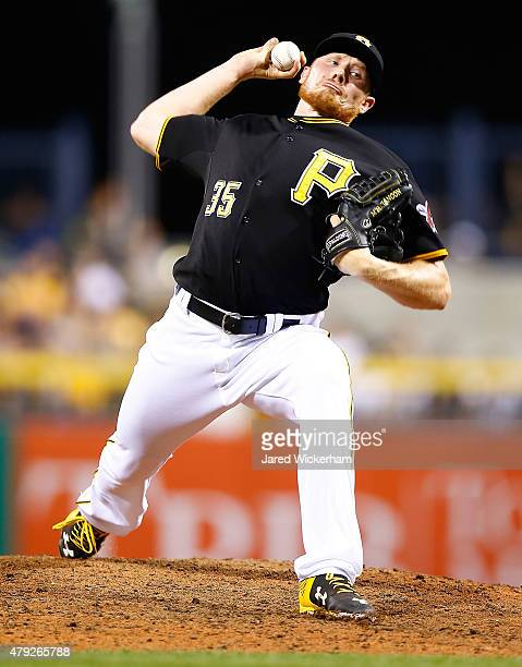 Mark Melancon of the Pittsburgh Pirates pitches against the Atlanta Braves during the game at PNC Park on June 26 2015 in Pittsburgh Pennsylvania