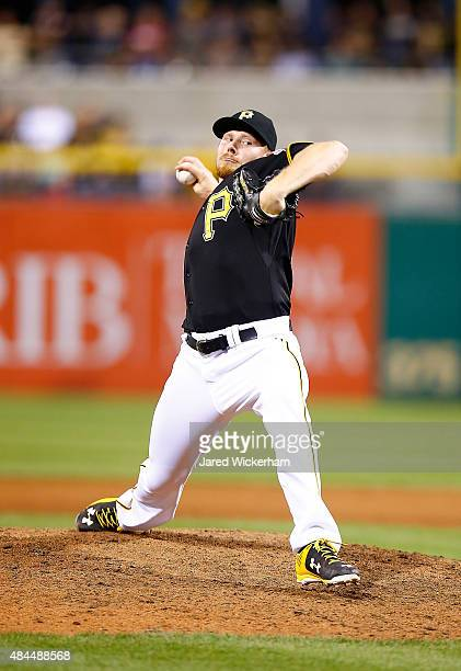 Mark Melancon of the Pittsburgh Pirates pitches against the Chicago Cubs during the game at PNC Park on August 5 2015 in Pittsburgh Pennsylvania