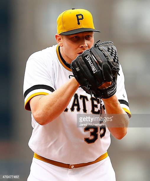 Mark Melancon of the Pittsburgh Pirates pitches against the Milwaukee Brewers during the game at PNC Park on April 19 2015 in Pittsburgh Pennsylvania