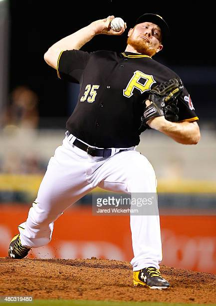 Mark Melancon of the Pittsburgh Pirates pitches against the San Diego Padres during the game at PNC Park on July 7 2015 in Pittsburgh Pennsylvania
