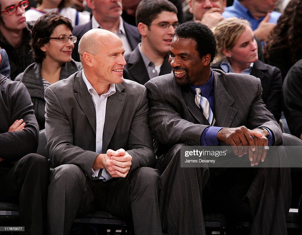 Mark Messier and Charles Oakley during Celebrities Attend Washington Wizards vs. New York Knicks Game - November 15, 2006 at Madison Square Garden in New York City, New York, United States.