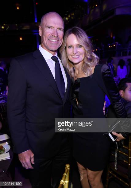 Mark Messier and Kim Clark attend the Samsung Charity Gala 2018 at The Manhattan Center on September 27 2018 in New York City