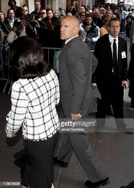 Mark Messier arrives at the Memorial for Dana Reeve at the New Amsterdam Theatre on March 10, 2006 in New York City. Dana Reeve, wife of the late...