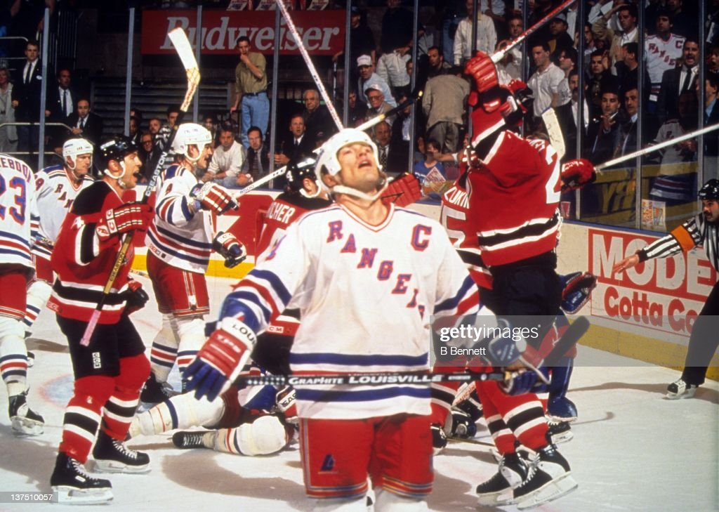 1994 Eastern Conference Finals - Game 7:  New Jersey Devils v New York Rangers : News Photo
