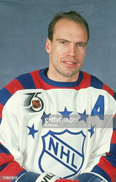Mark Messier of the Wales Conference and the New York Rangers poses for a portrait before the 1992 43rd NHL AllStar Game against the Campbell...